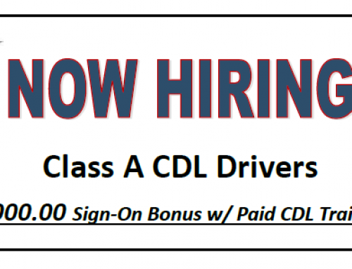 Now Hiring: Class A CDL Delivery Drivers! $1000 Sign-On Bonus w/ Paid CDL Training!