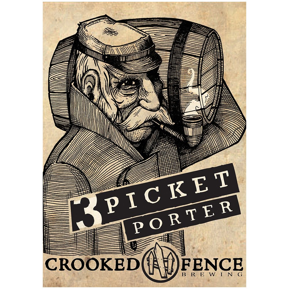 Crooked Fence, 3 Picket Porter