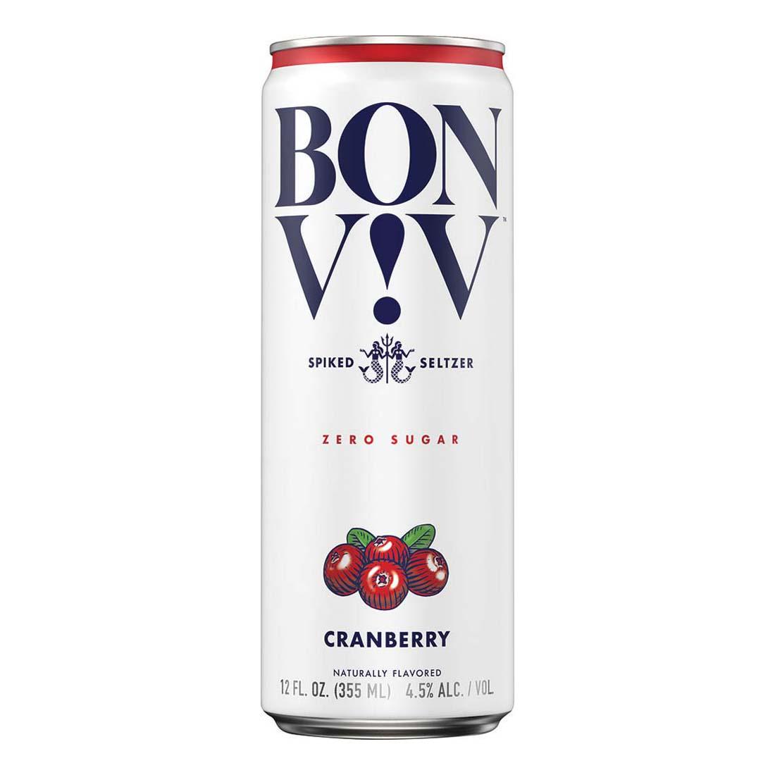 Bon & Viv Spiked Seltzer, Cranberry